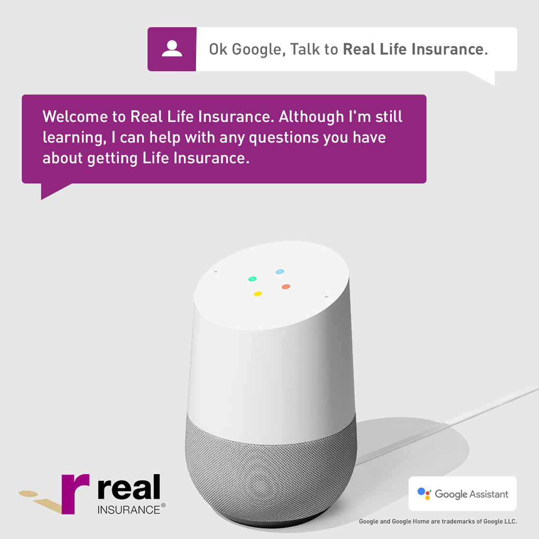 Real Insurance Google Assistant by Brandoutloud